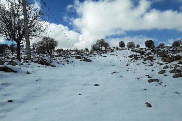 بارش برف در ارتقاعات سالند دزفول