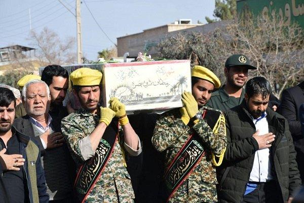 ۲ شهید گمنام در دانشگاه آزاد رفسنجان آرام گرفتند
