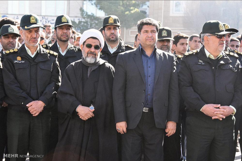 تشییع پیکر مطهر شهید «محمدحسن جلی» در شهرضا
