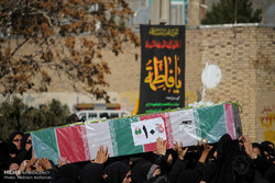 پیکر مطهر ۱۰ شهید دفاع مقدس و مدافع حرم در مشهد تشییع شد