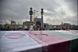 پیکر شهید مدافع حرم «عوض مرادی» در مشهد تشییع شد