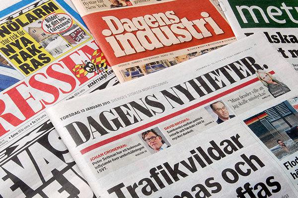 کاهش شدید مراجعه سوئدیها به روزنامههای کاغذی