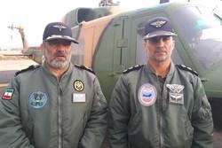 بالگردهای ارتش به محض ایجاد شرایط مناسب پرواز می کنند