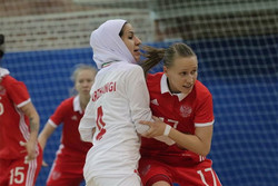 دیدار تیم ملی فوتسال بانوان ایران و روسیه
