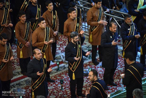 آیین شام غریبان و لاله گردانی شهادت حضرت زهرا (س) در شیراز