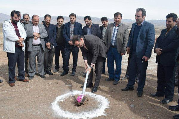 احداث بزرگترین زمین والیبال ساحلی قزوین در روستای میانبر
