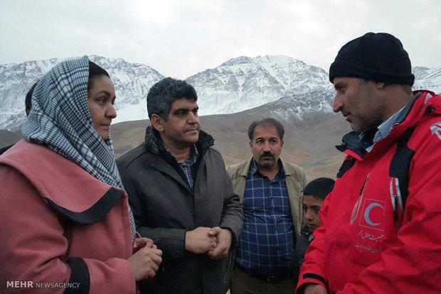 حضور عوائل ضحايا سقوط طائرة طهران-ياسوج قرب موقع الحادث