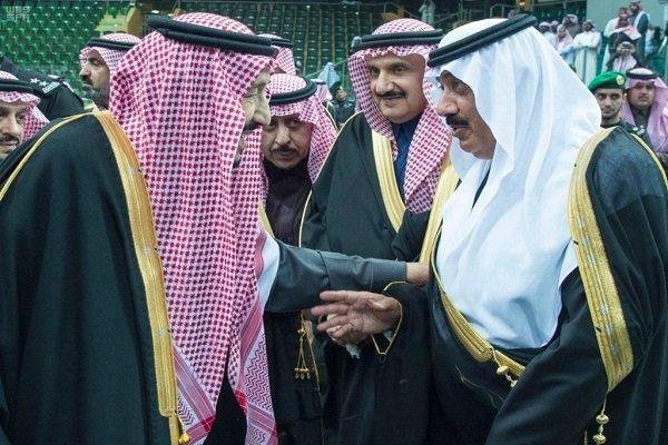 دیدار «متعب بن عبدالله» و «الولید بن طلال» با پادشاه عربستان