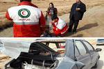 تصادف ۳ دستگاه خودرو در اتوبان تهران-قم/۴ نفر مصدوم شدند
