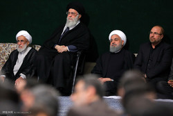 رہبر معظم کی موجودگی میں حضرت زہرا (س) کی شہادت کی مناسبت سے پانچویں مجلس