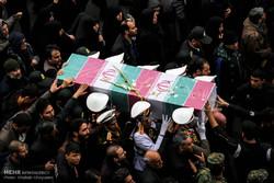 مراسم تشييع جثامين شهداء قوات الشرطة الايرانية في طهران /صور