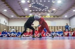 تمرينات منتخب سيدات ايران للمصارعة /صور
