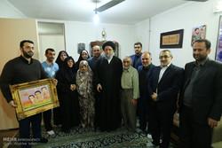 دیدار امام جمعه گرگان با خانواده شهدا و جانبازان