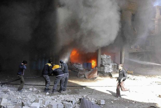 وقوع درگیری سنگین میان ارتش  سوریه و تروریست ها در غوطه شرقی