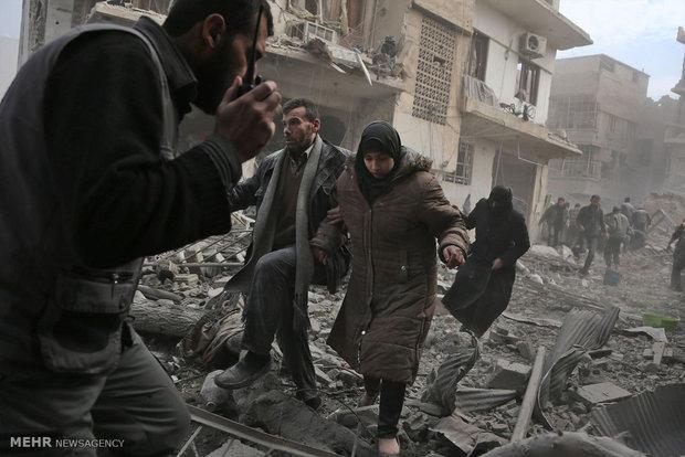 حمله تروریستها به کاروان خانوادههای سوری در غوطه شرقی