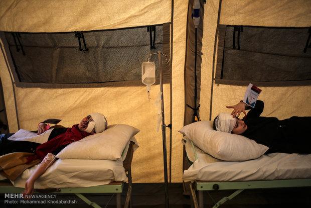 مانور بهداشت و درمان اضطراری هلال احمر در شهرستان ورامین