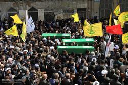 تشییع پیکر سه شهید بحرینی جبهه مقاومت اسلامی در قم