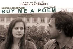 """A poster for """"Buy Me a Poem"""" by Rezvan Khorsandi"""
