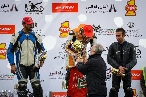 İran'daki hız motor yarışlarından kareler