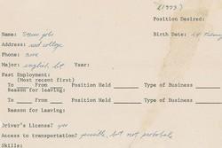 حراج اولین درخواست استخدامی استیو جابز!