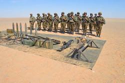 الجیش الجزائري یكشف عن ترسانة أسلحة قرب الحدود المالية