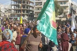 تظاهرات ساکنان «الرقه» سوریه علیه نیروهای آمریکایی