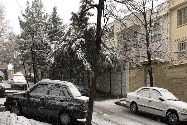 هطول الثلج بمحافظة همدان شمال غربي ايران / فيديو