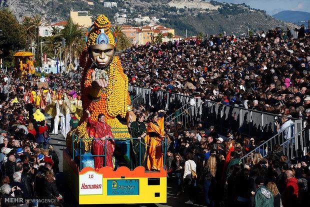 """مهرجان الليمون في مدينة """"منتون"""" الفرنسية"""