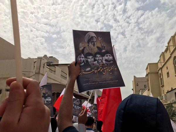 تشييع رمزي في مختلف مناطق البحرين لثلاثة شهداء