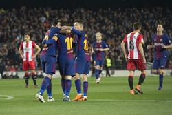 دیدار تیم های فوتبال بارسلونا و خیرونا