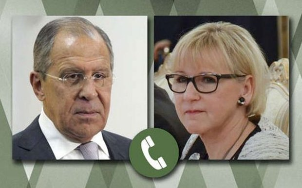 Russian, Swedish FMs discuss settling crisis in Syria