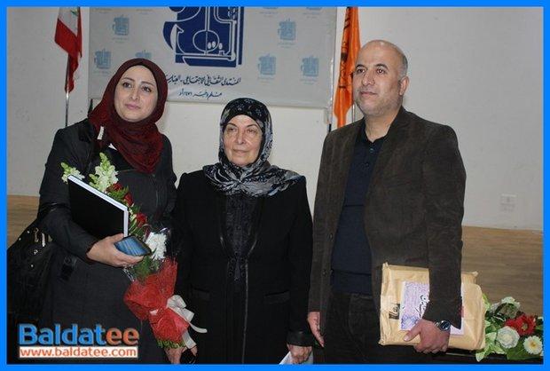 دلال عباس في حفل توقيع كتاب نصرت أمين الإصفهانية