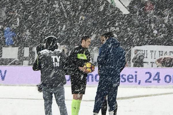 لغو دیدار یوونتوس - آتالانتا بخاطر بارش سنگین برف