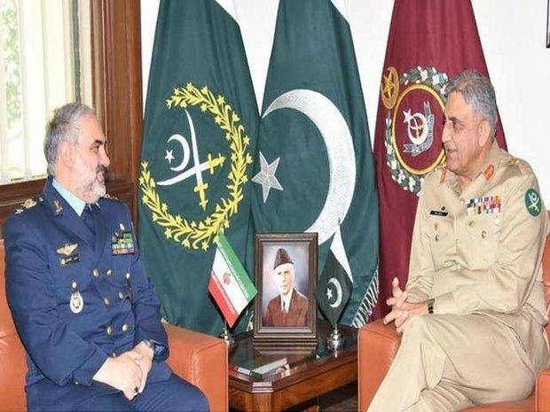 اسلام آباد میں ایرانی فضائیہ کے سربراہ کی پاکستانی فوج کے سربراہ سے ملاقات
