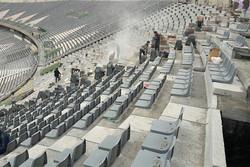 بازسازی جایگاه ویژه ورزشگاه آزادی به بهانه سفر رئیس فیفا به تهران