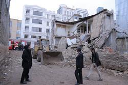 ساختمان ۲ طبقه در قزوین فرو ریخت