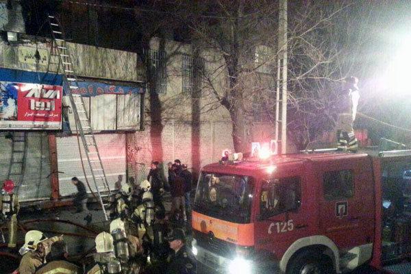 آتش سوزی بلوار ارتش