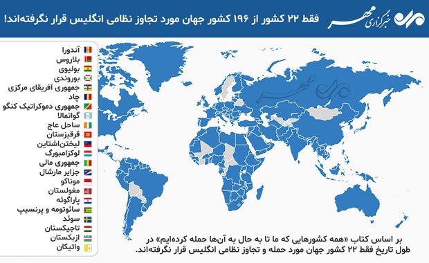 انگلیس فقط به ۲۲ کشور جهان حمله نکرده است
