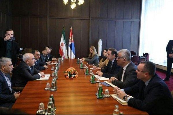 Zarif meets with Serbia's deputy PM, trade min.