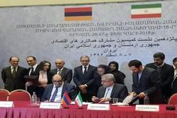 Iran, Armenia ink four economic, customs, sports agreements