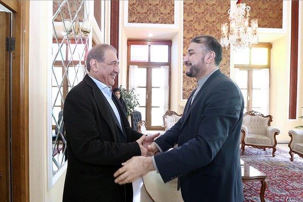 عبداللهيان يلتقي بالمساعد السابق لرئيس وزراء سوريا