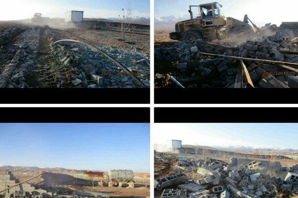 ۱۵ فقره ساخت و ساز غیرمجاز در بهشهر تخریب شد