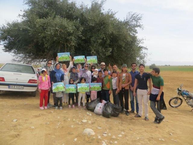 استقبال اهالی گندمریز از نوروز با پاکسازی زباله