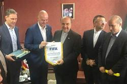 رئيس الفيفا: لا اعتقد أن هناك مشكلة غير محلولة في استضافة ايران والسعودية لمبارياتهم المشتركة