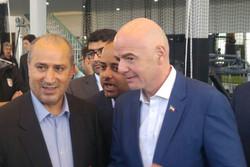 رئیس فیفا وارد ورزشگاه آزادی شد