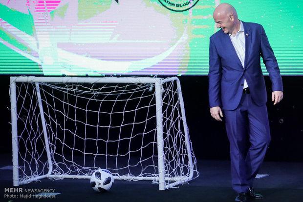 FİFA Başkanı Ruhani'yi Dünya Kupası açılış törenine davet etti