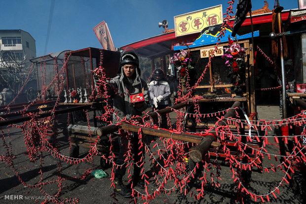 جشنواره آتش بازی در تایوان