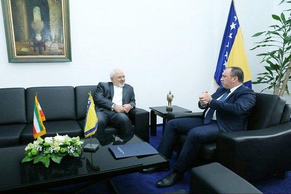 وزير الخارجية الايراني يلتقي نظيره البوسني