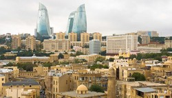 A view of Baku, the capital and commercial hub of Azerbaijan
