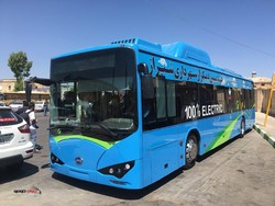 The first electric bus in southwestern city of Shiraz / June 2017
